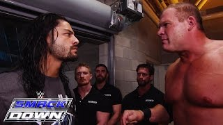Kane kicks Roman Reigns off SmackDown: SmackDown, June 25, 2015