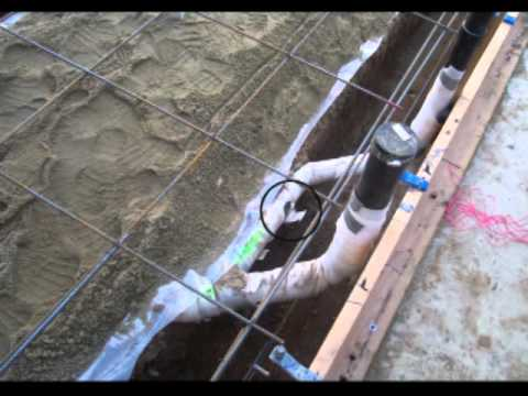 Damaged Waste Pipe Protection Concrete Foundation