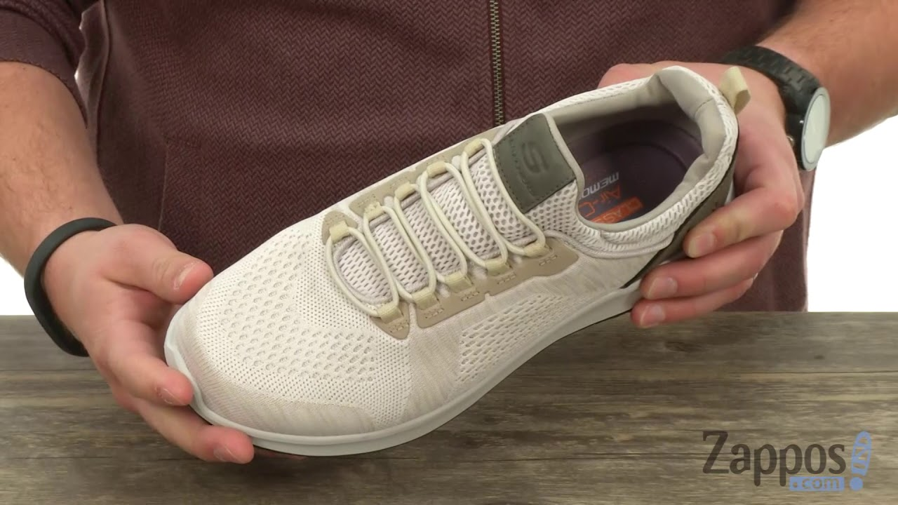 MENS SKECHERS DELSON Brewton Sneakers BlackCharcoal Size