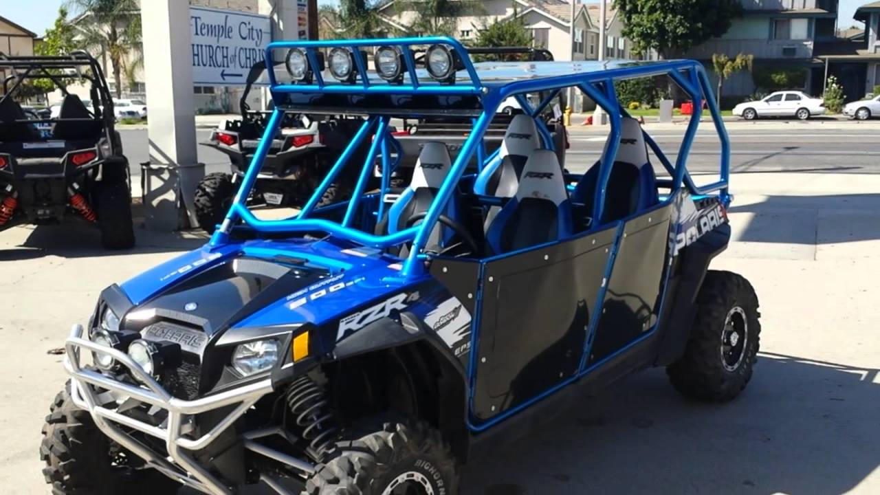medium resolution of 2011 polaris rzr 4 800 four door custom youtube