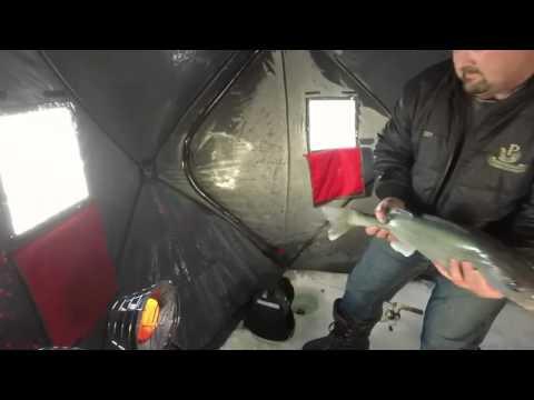 Ice fishing lake winnipeg youtube for Lake winnipeg fishing report