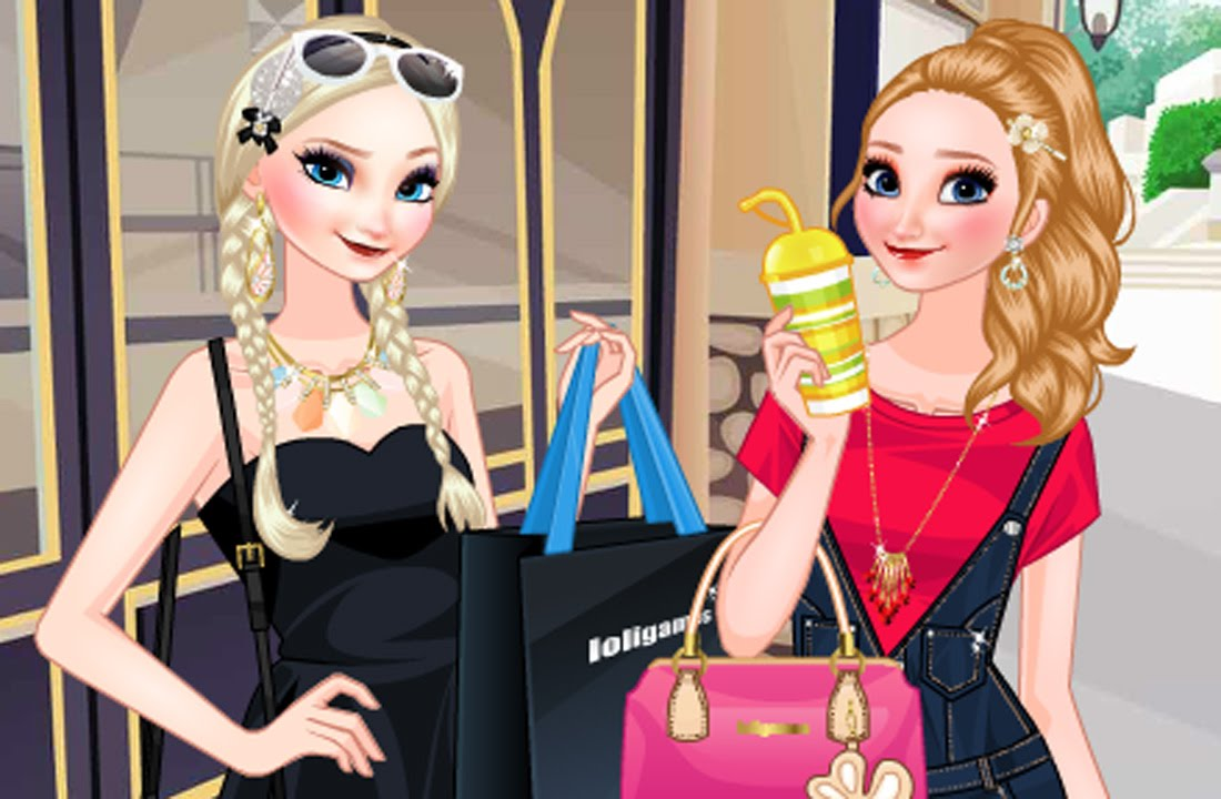 Elsa and Anna Go Shopping - Disney Frozen Games - YouTube