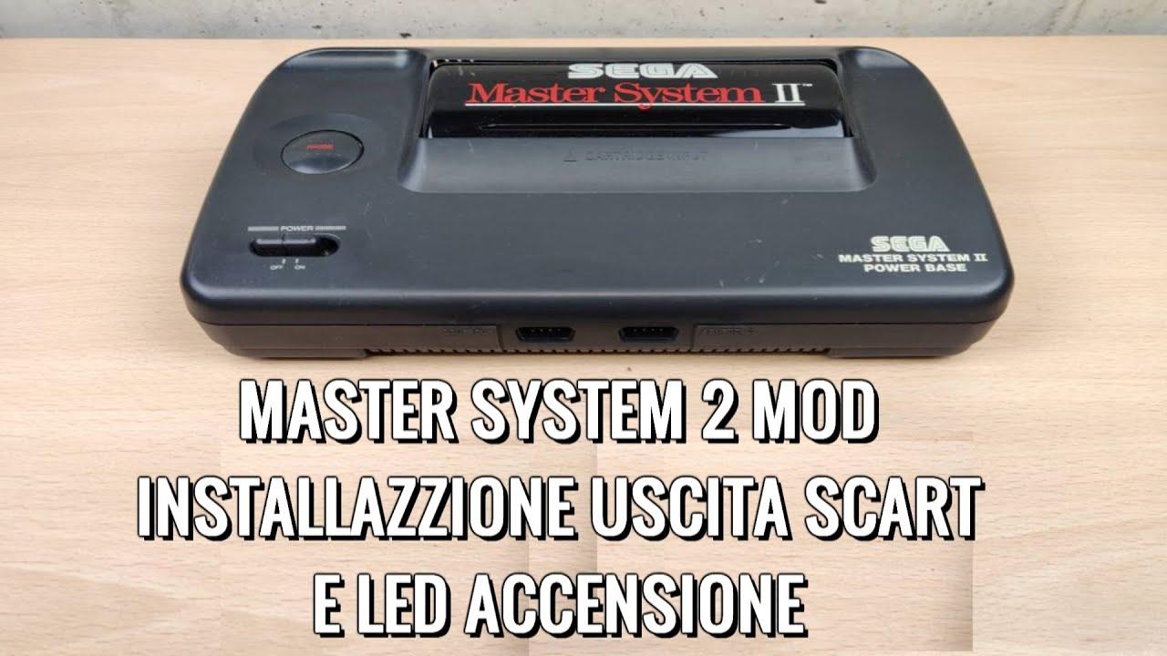Aggiungere L' Uscita Scart (RCA) AL Sega Master System 2 + LED D' Accensione