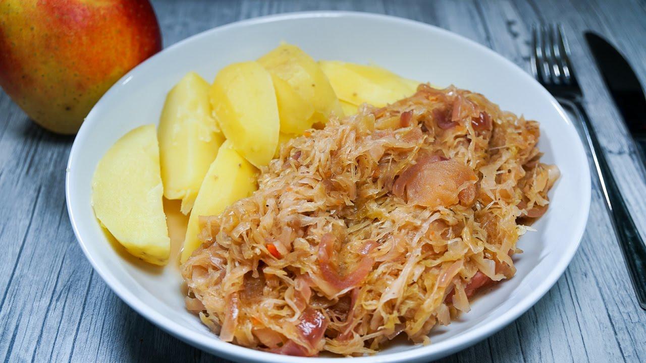Sauerkraut mit Kassler selber machen - Rezept und ...