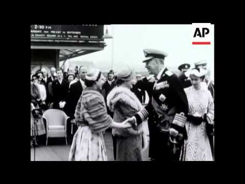 King and Queen of Sweden State Visit - 1954