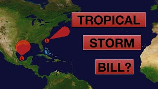 Which Tropical Disturbance will become Tropical Storm Bill First?