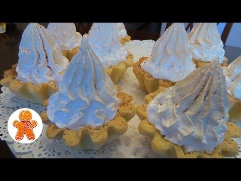 Корзиночки с кремом (меренгами)