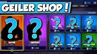 ❌RAPTOR & ABSTRAKT SKIN + PARTYLÖWE in SHOP!! 😱 - NEW OBJECT SHOP in FORTNITE is DA!!