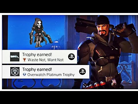 Overwatch - Unlocking Waste Not Want Not! (And Platinum Trophy)