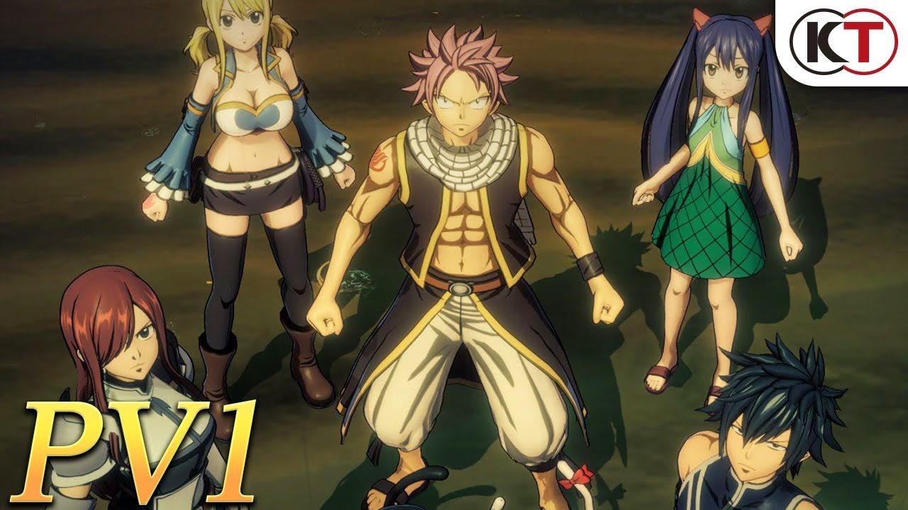 Anime Big Boobs Game fairy tail trailer features traditional jrpg combat, plenty