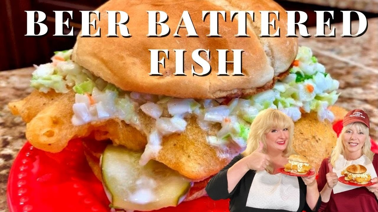 Crispy BEER BATTERED Fish Sandwich Recipe  (GREAT for Fish and Chips!)