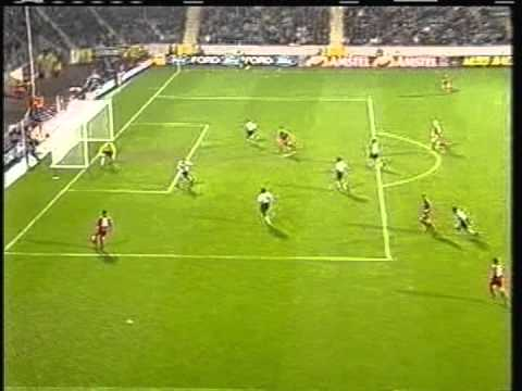 2000 (September 20) Bayer Leverkusen (Germany) 3-Sporting Lisbon (Portugal) 2 (Champions League)