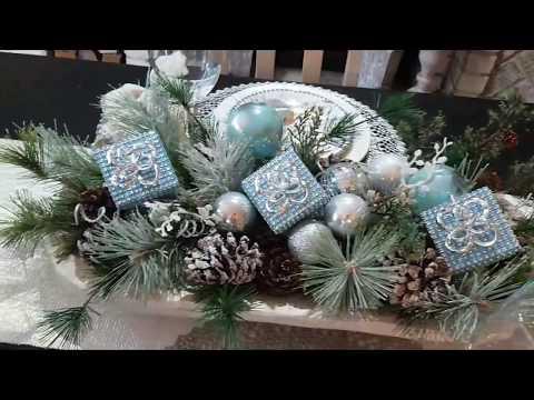 Easy Christmas Centerpiece  DIY + Tablescape