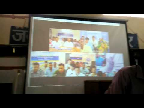 Video Conferencing of GPs in Indore District of  MP