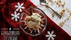Homemade Gingerbread Ice Cream l Non-Dairy