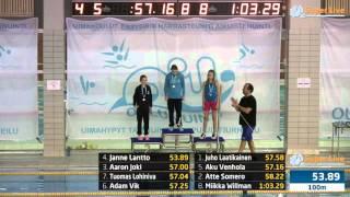 18 100m Vapaauinti Miehet Heat 8 19 47 57