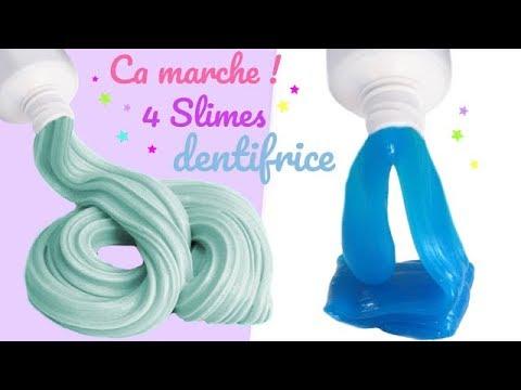 4 Recettes De Slime Sans Colle Et Sans Borax Avec Du Dentifrice