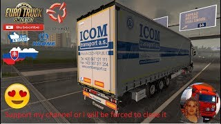 Euro Truck Simulator 2 (1.36)   Krone Megaliner Skin Pack 2.3 by TheNuvolari and Sogard3 Mercedes Actros MP4 by SCS Software Wet Delivery SVK MAP by KimiSlimi Version v22 + DLC's & Mods https://forum.scssoft.com/viewtopic.php?f=38&t=275105  Support me ple