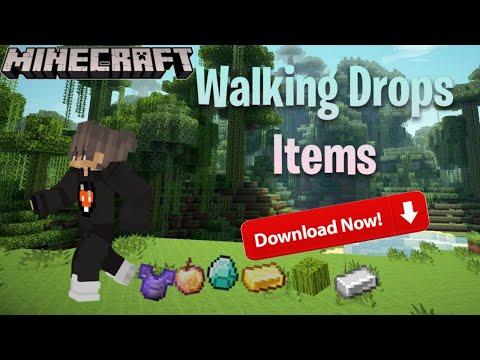 how to download walking drops op item in minecraft   Minecraft, but walking drop op item mod