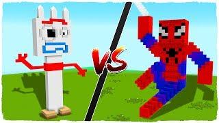 Casa De Forky Vs Casa De Spiderman - Minecraft