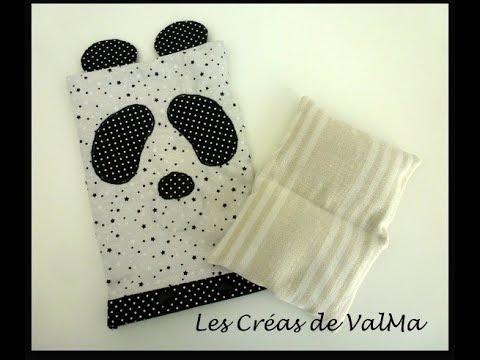 Bouillotte sèche panda - graines de lin - Tuto couture ValMa - YouTube