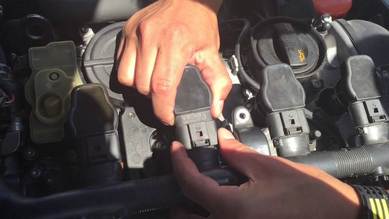 ignition coil replacement audi a4 youtube rh youtube com Audi A4 Spark Plug Wires For 2006 Audi A4 Quattro