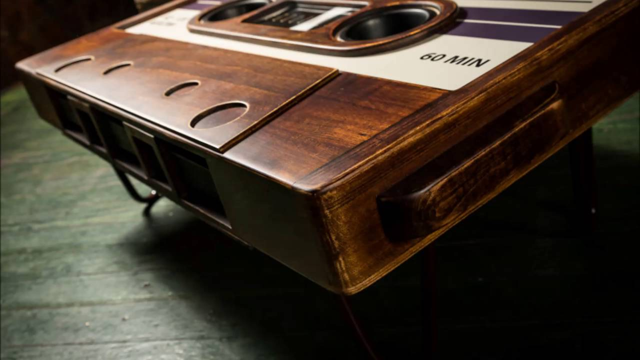 Cassette Tape Coffee Table Slideshow YouTube - Cassette coffee table
