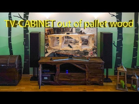 "🔨Craftling: ""Hobbit-Style"" TV-CABINET out of PALLET WOOD"