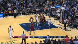 Myles Turner's MONSTER block on LeBron James' poster dunk attempt!