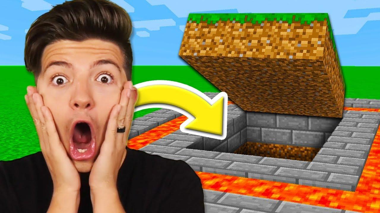 Preston Found A Secret Underground Base   Minecraft