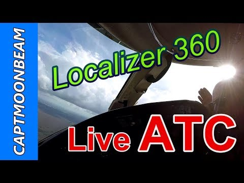 ATC Live Cessna Citation XLS Landing Miami Executive 360 turn on the Localizer