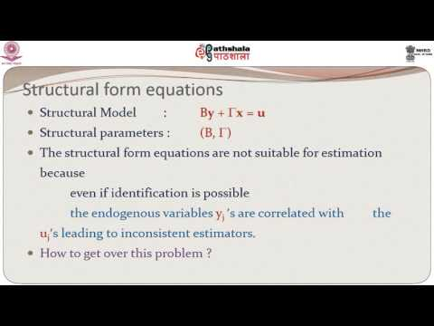 Simultaneous Equations Models – The Identification Problem