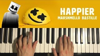 Baixar Marshmello - Happier (PIANO TUTORIAL LESSON)
