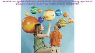 Promocje Imitation Solar System Nine Planets Model Children Inflatable Ball Early Learning Toys Fo