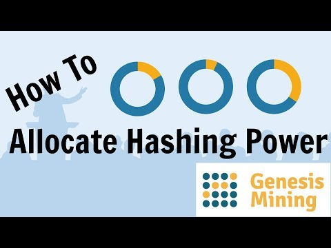 How To Allocate Hashing Power - Genesis Mining