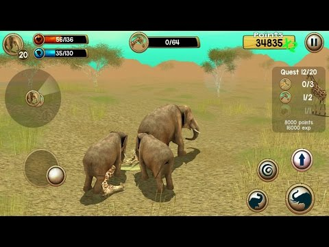 Wild Elephant Sim 3D Android Gameplay #2