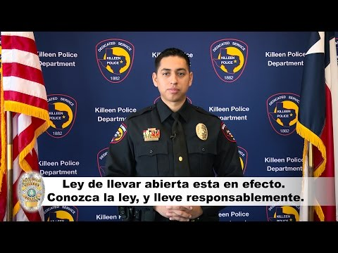 Open Carry PSA - En español - Updated July 2016