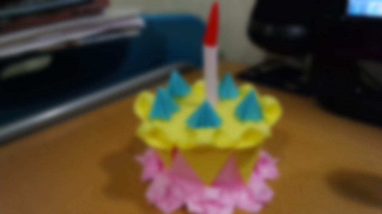 Origami Birthday Cake Youtube