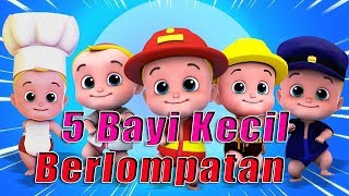 5 Bayi Kecil Berlompatan || 5 little babies jumping || Lagu Anak Indonesia 3D Videos