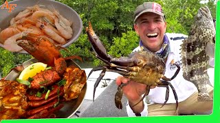 Chilli Ramen Mud Crab Catch and Cook with cast net Prawn entrée EP.515
