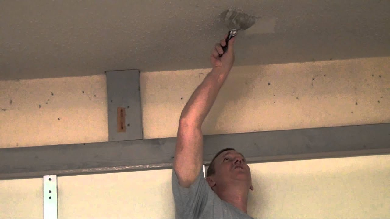 How to remove popcorn ceiling texture the easy way - YouTube