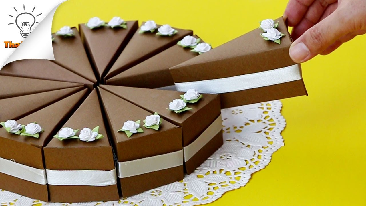 Birthday Cakes Gifts Images ~ Diy cake gift boxes birthday gift ideas youtube