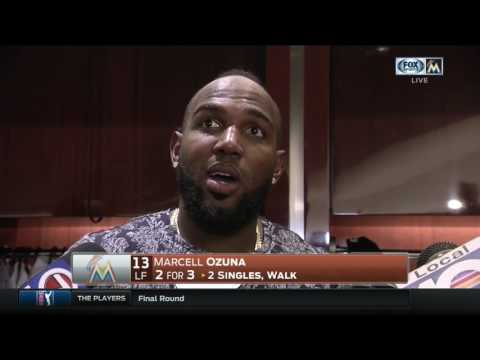 Marcell Ozuna -- Miami Marlins vs. Atlanta Braves 05/14/2017