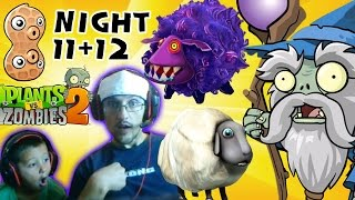 Plants vs. Zombies 2 DARK AGES - Night 11 & 12: Worstest Wizard Creep With Whack Sheep (Face Cam)