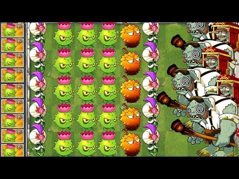 Plants vs. Zombies 2 New Homing Thistle vs Gargantuar Porter