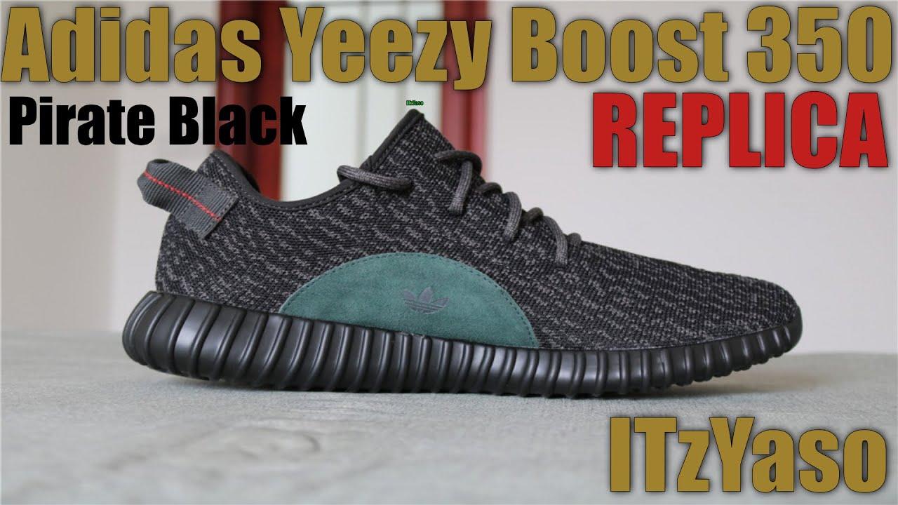 caab5b69de041 VIP Quality - Adidas Yeezy Boost 350 Pirate Black Replica UA - YouTube