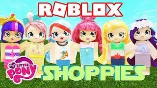Play Doh ROBLOX My Little Pony Shopkins Shoppies Rainbow Dash Twilight Sparkle Pinkie Pie Applejack