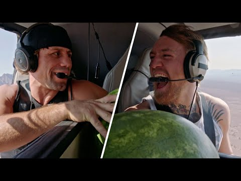 Coaches Challenge: Conor McGregor & Urijah Faber Toss Watermelons From a Helicopter