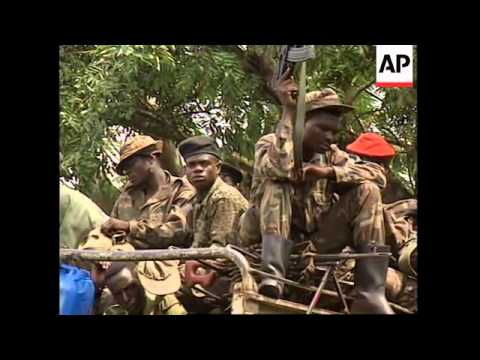 CONGO: KINSHASA: KABILA'S TROOPS CHEERED AS THEY PATROL STREETS