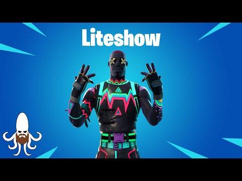 Liteshow Skin Review & Gameplay - Fortnite - Watch Before Buying!